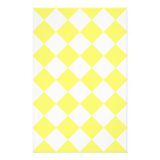 Diagは-白およびレモン市松模様になりました 便箋