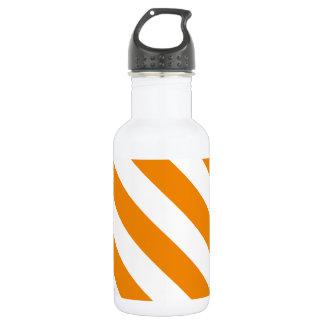 Diagは-白および蜜柑縞で飾ります ウォーターボトル