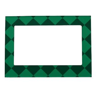 Diagは-緑および深緑色市松模様になりました マグネットフレーム