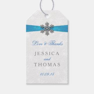 Diamanteの雪片及び一流の冬の結婚式 ギフトタグパック