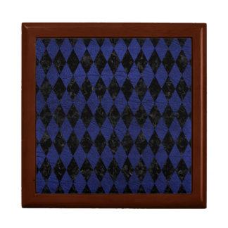 DIAMOND1黒い大理石及び青い革 ギフトボックス