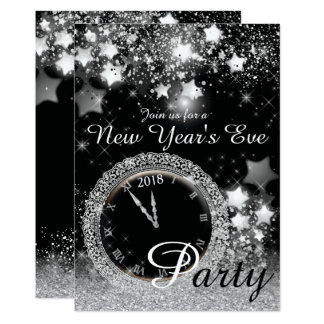 Diamond Bling New Year's Eve Party 12.7 X 17.8 インビテーションカード