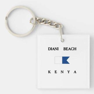 Dianiのビーチのケニヤのアルファ飛び込みの旗 キーホルダー