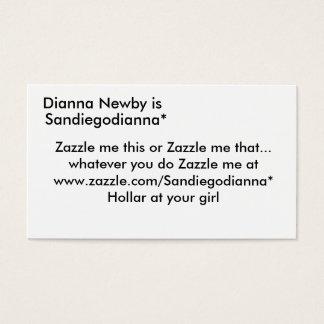 Dianna Newbyは、Sandiegodianna*、Zazzle私thi…あります 名刺