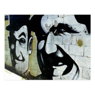Dick & Doof - Graffiti in Spanien - Postkarte ポストカード