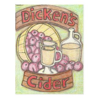 Dickensのりんご酒はよいように何もかなり感じません ポストカード