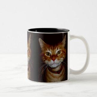 Dickensの子猫のギフト及び挨拶 ツートーンマグカップ