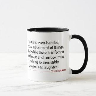 Dickensの引用文-笑い声のマグ マグカップ