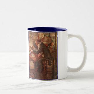 Dickensキャンドルライトによって暖まるクリスマスキャロル ツートーンマグカップ