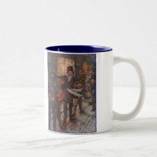 Dickensクリスマスキャロルの子供 ツートーンマグカップ
