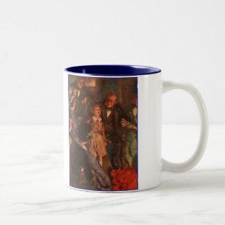 Dickensクリスマスキャロルの小さいティムのスピーチ ツートーンマグカップ