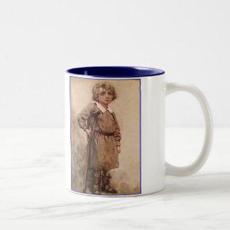 Dickensクリスマスキャロル小さいティム ツートーンマグカップ