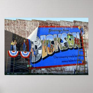 Dickson郡テネシー州の~の壁画からの挨拶 ポスター