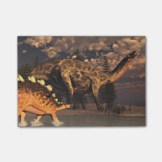 Dicraeosaurusおよびケントロサウルスの恐竜 ポストイット