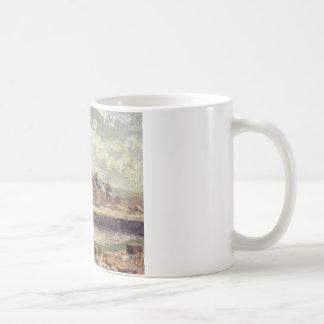 DieppeのDunquesne盆地、日光の効果、朝 コーヒーマグカップ