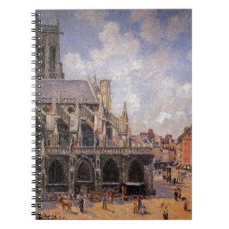 Dieppe、朝日曜日のStジェイクスの教会 ノートブック