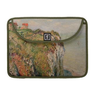 Dieppe 1882年のクロード・モネ の崖 MacBook proスリーブ