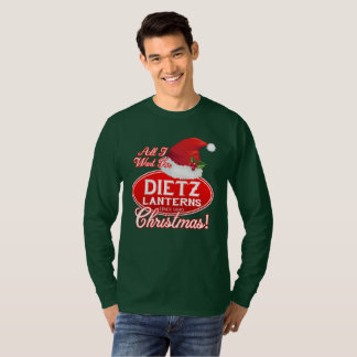 DIETZのランタンのクリスマスのロゴのワイシャツ Tシャツ