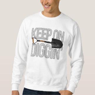 Digginのセーターで保って下さい スウェットシャツ
