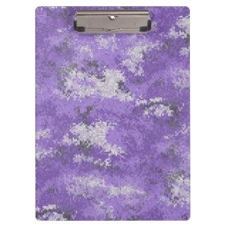 Digiの紫色の迷彩柄 クリップボード