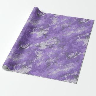 Digiの紫色の迷彩柄 ラッピングペーパー