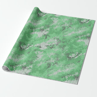 Digiの緑の迷彩柄 ラッピングペーパー