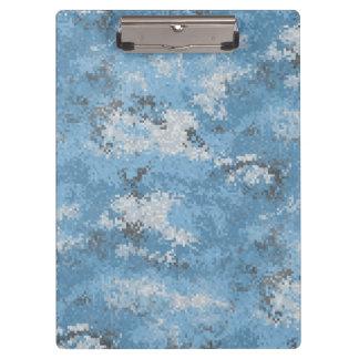 Digiの青い迷彩柄 クリップボード