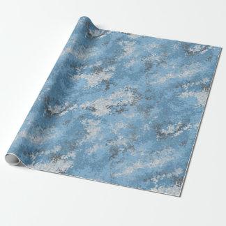 Digiの青い迷彩柄 ラッピングペーパー