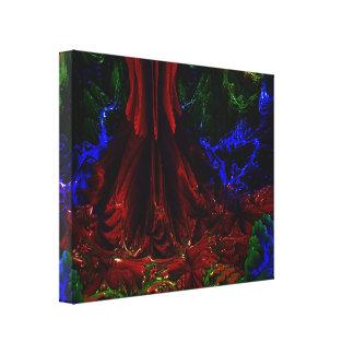 DIGITALのペンキの秋MANDELBULB 3D。 フラクタルIMG キャンバスプリント
