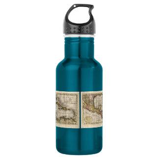 Dillyおよびロビンソン著西インド諸島の1790地図 ウォーターボトル