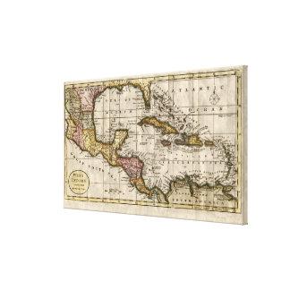 Dillyおよびロビンソン著西インド諸島の1790地図 キャンバスプリント