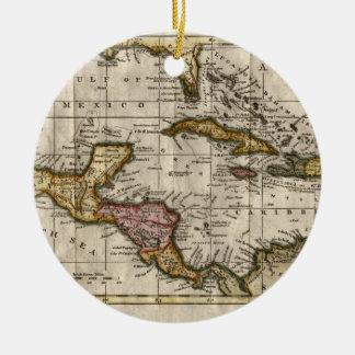 Dillyおよびロビンソン著西インド諸島の1790地図 セラミックオーナメント