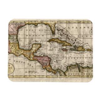 Dillyおよびロビンソン著西インド諸島の1790地図 マグネット