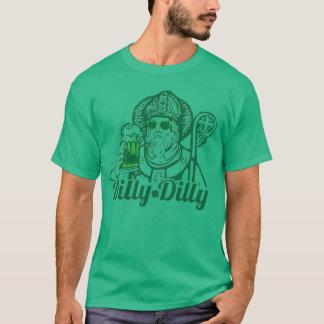 DillyのDillyのセントパトリックの日の緑ビールワイシャツ Tシャツ