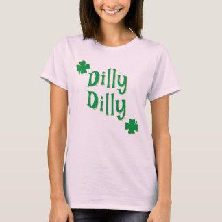 DillyのDillyのセントパトリックの日及び緑のクローバー Tシャツ