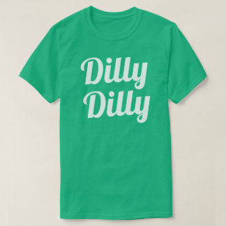 DillyのDillyの緑のワイシャツ Tシャツ