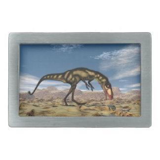 Dilongの恐竜- 3Dは描写します 長方形ベルトバックル