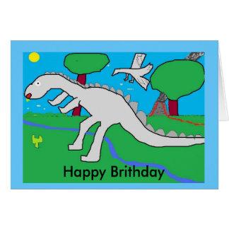 dinasaur、幸せなBrithday カード
