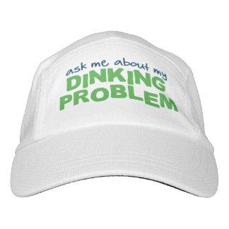 """""""Dinking私の問題について私に""""のPickleballの帽子尋ねて下さい ヘッドスウェットハット"""