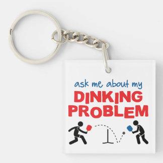 Dinking私の問題Keychainについて私に尋ねて下さい キーホルダー