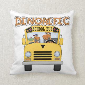DinorificのスクールバスのTシャツおよびギフト クッション