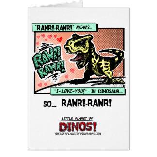 DINOSの少し惑星! - RAWR! - RAWR! 愛 カード