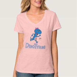 Dinotykes Allieはアロサウルスです。 淡いピンク。 Tシャツ
