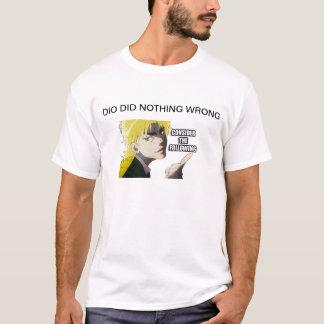dioは何も間違ってしませんでした tシャツ