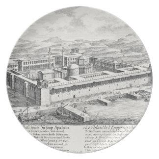 Diocletian (245-313)の宮殿、割れ目、ユーゴスラビア、 プレート