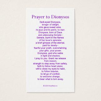 Dionysosの祈りの言葉カード 名刺