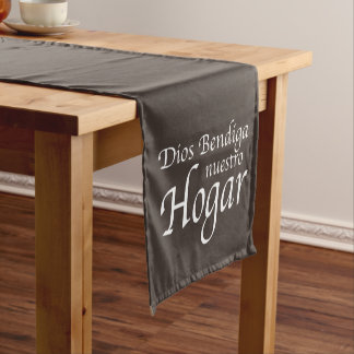 Dios Bendiga Nuestro Hogar: 白い ショートテーブルランナー