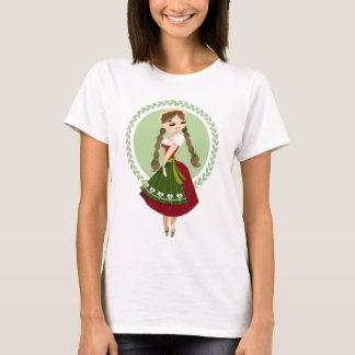 Dirndlの女の子 Tシャツ