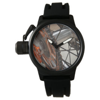 Dirt_Bike_Wheel_Mens_Rubber_Crown_Protector_Watch 腕時計