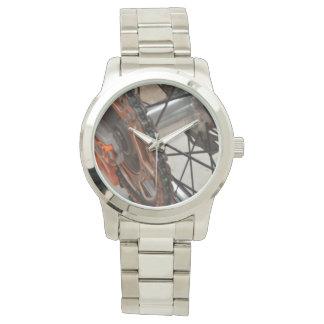 Dirt_Bike_Wheel_Unisex_Large_Silver_Watch 腕時計